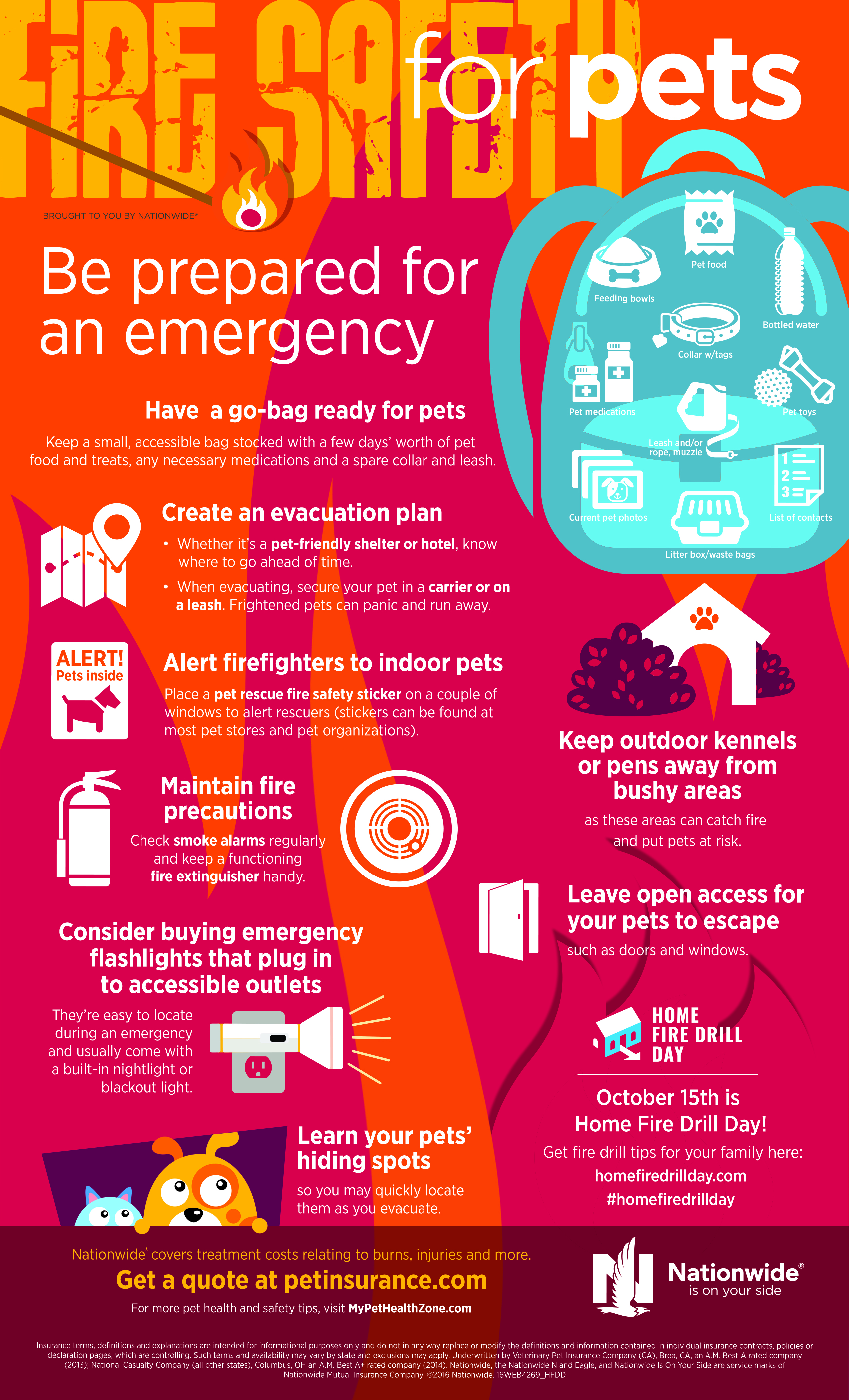 4269_Pet Fire Safety Infographic_Home Fire Drill Day